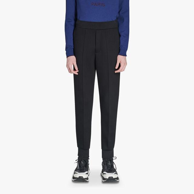 常规剪裁的可调节汗布慢跑裤, NOIR/DARK LEAD, hi-res