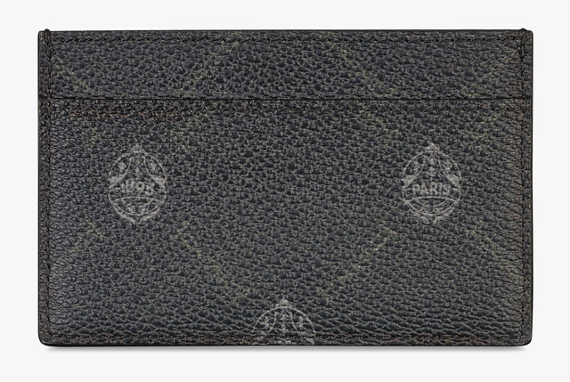 Séjour Canvas And Leather Card Holder, BLACK + TDM INTENSO, hi-res