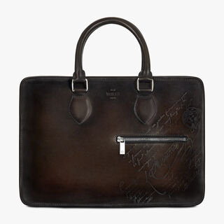 1 Jour Small Scritto Leather Briefcase