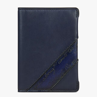 Ideal Leather Card Holder, NAVY BLU, hi-res