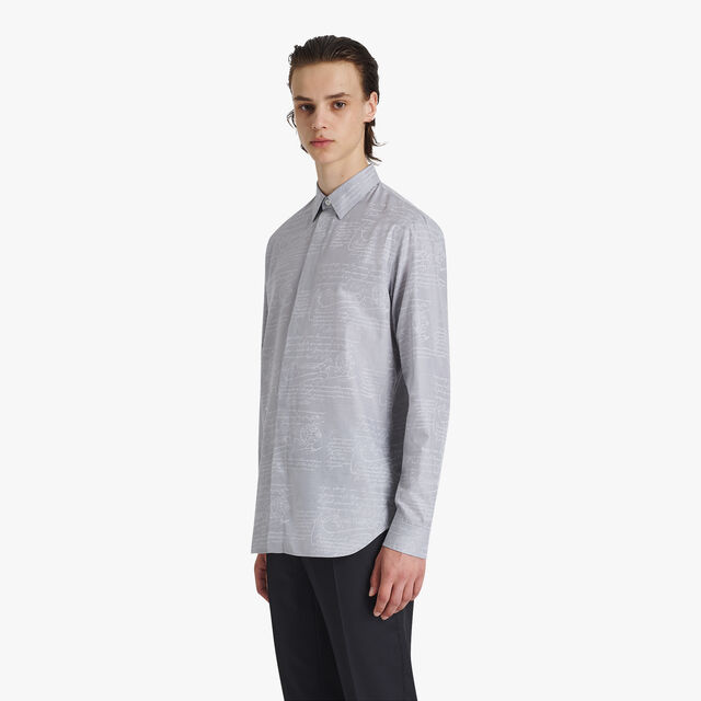 Scritto Cotton Jacquard Shirt, ICE GREY, hi-res
