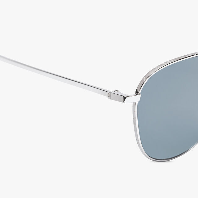 Moonlight Scritto Metal Sunglasses, SILVER+VINTAGE BLUE, hi-res