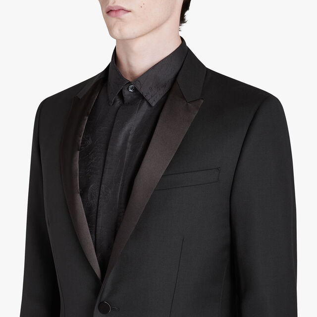 Wool Tuxedo Jacket, NOIR, hi-res