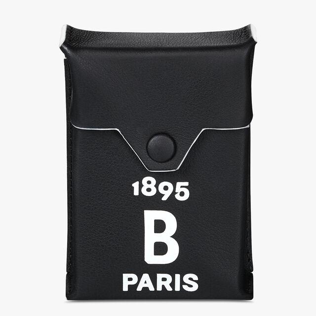 Calf Leather Cigarette Case, BLACK WHITE, hi-res
