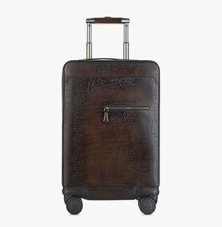 Formula 1004 Leather Rolling Suitcase, CAFFE, hi-res