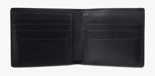 Makore Scritto Compact Leather Wallet, NERO GRIGIO, hi-res