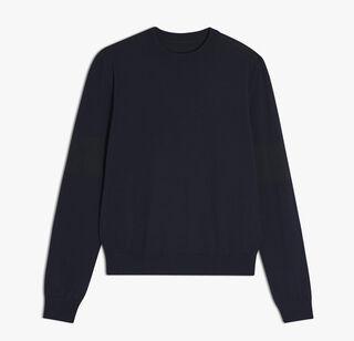 圆领羊毛针织衫, BLUE NAVY, hi-res