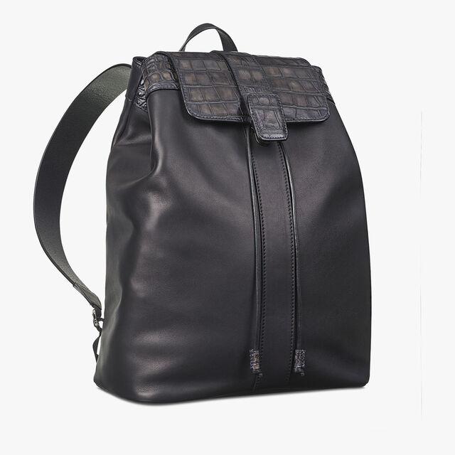 Horizon Mini Alligator Leather Backpack, MEDIUM FLANEL, hi-res