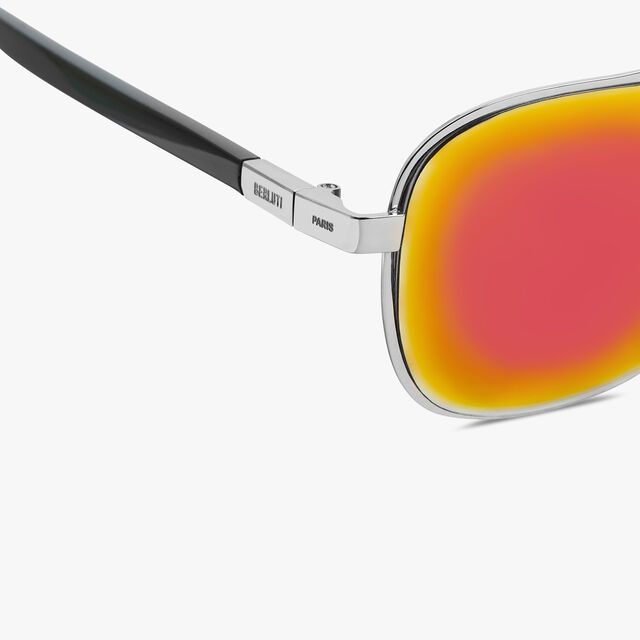 """Shine 正方形""""飞行员""""金属与醋酸纤维太阳眼镜, PALLADIUM, hi-res"""