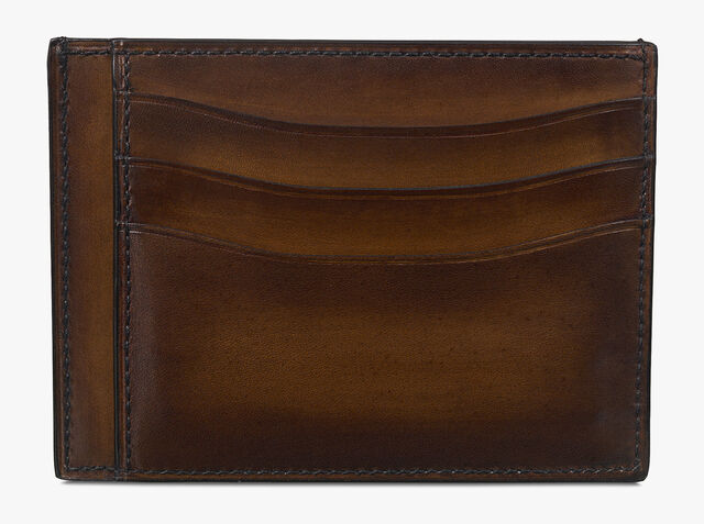 Bambou Tetris Scritto Leather Card Holder, TOBACCO BIS, hi-res