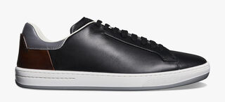 Burano Outline Calf Leather Sneaker, NERO, hi-res