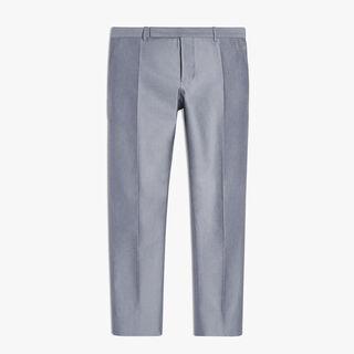 Classic Cotton, Wool And Silk Pants, RAW QUARTZ, hi-res