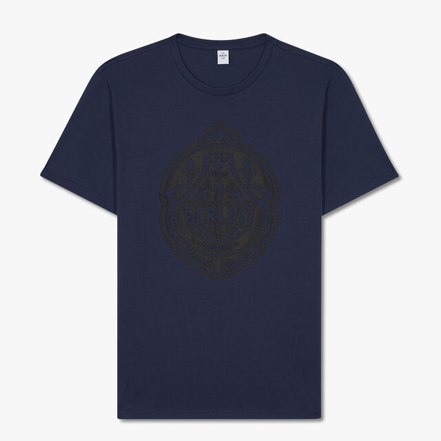 Embroidered Crest T-shirt, BLUE WINTER NIGHT, hi-res