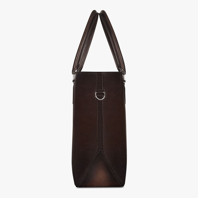 Toujours Scritto Leather Tote Bag, ICE BLACK, hi-res