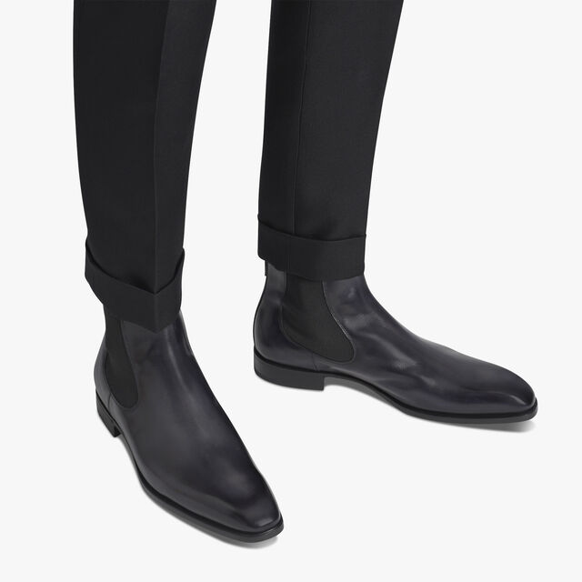 Caractère Capri Leather Boot, NERO GRIGIO, hi-res