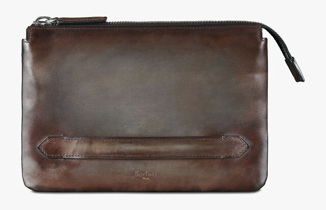 Tersio Jourスクリットレザー財布, ICE BROWN, hi-res