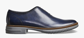 Alessio Cagliari Calf Leather Oxford, BLU PROFONDO, hi-res