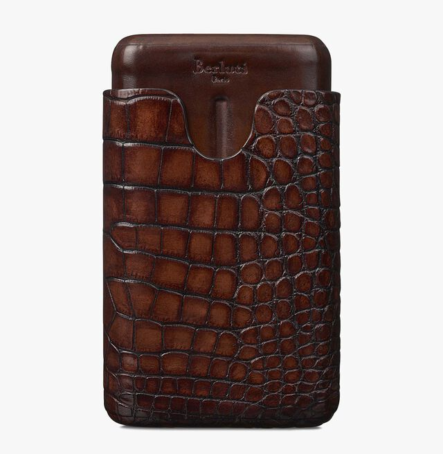 Alligator Leather Four-Cigar Case, MOGANO, hi-res