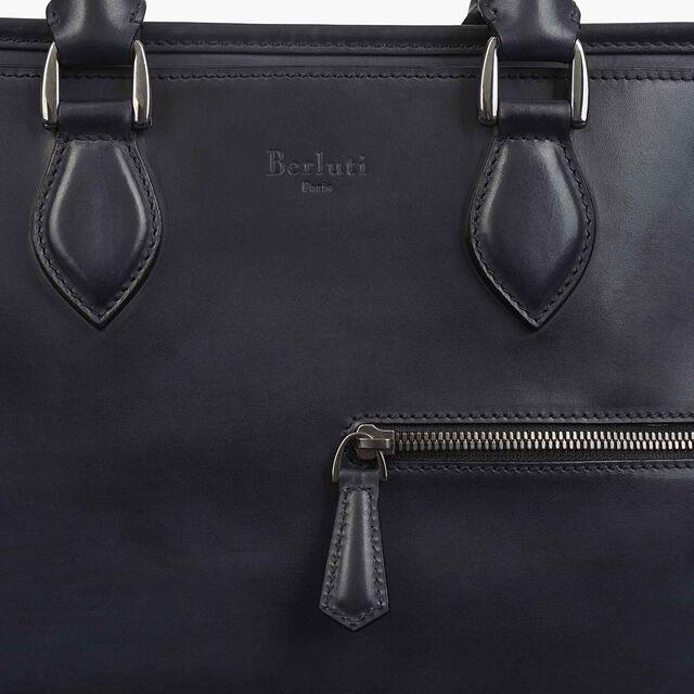 Un Jour Small Leather Briefcase, NERO, hi-res