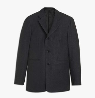 Three-Button Mix Wool Jacket, ANTHRACITE, hi-res