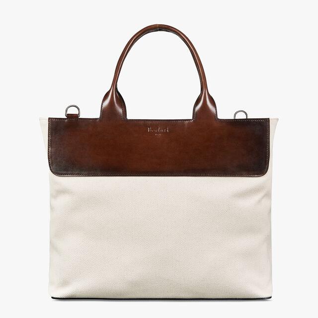 Evasion Canvas Tote Bag, BIANCO, hi-res