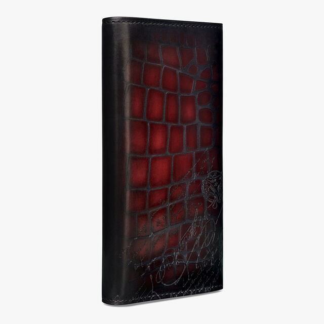 Espace Scritto Leather Patina Illusion Wallet, BLOOD, hi-res