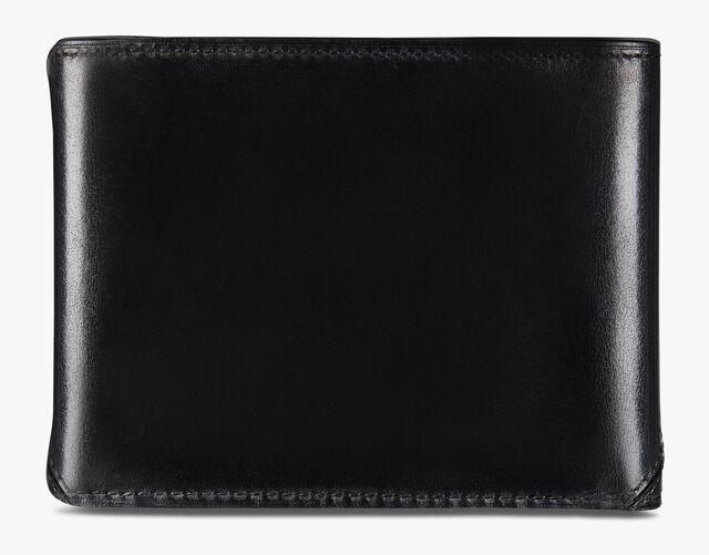 Essentiel Leather and Alligator Details Wallet, DEEP TDM & BLACK, hi-res