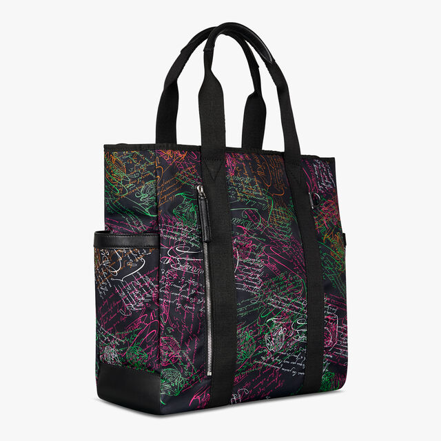 Chill Out Nylon Scritto Tote Bag, NAVY MULTICO, hi-res