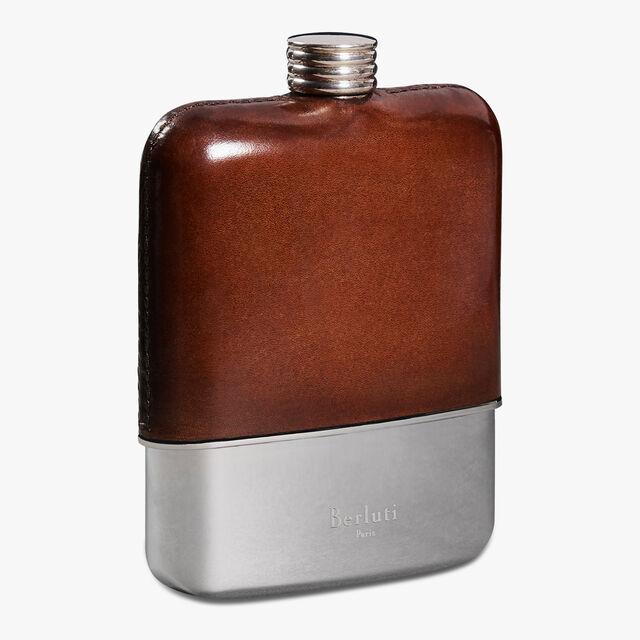 Leather Flask, MOGANO, hi-res