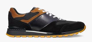 Run Track Torino Calf Suede Sneaker, NERO, hi-res