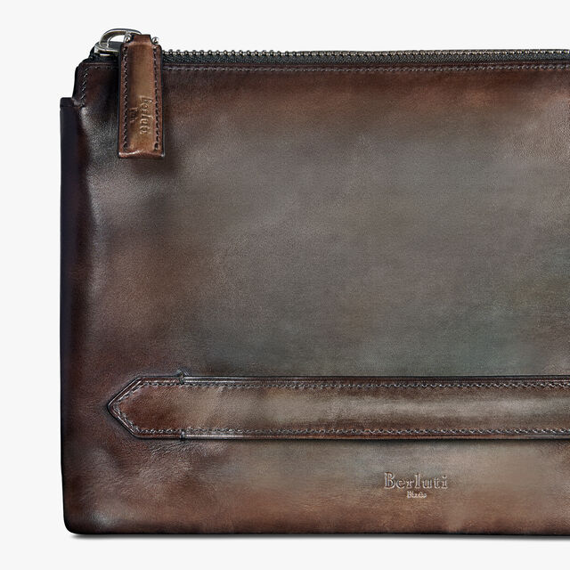 Tersio Jour Scritto Leather Wallet, ICE BROWN, hi-res