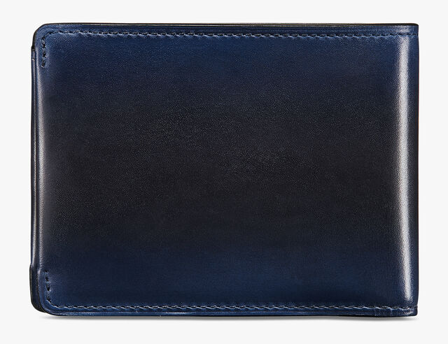 Essentiel Epure Compact Leather Wallet, BLACK BLUE, hi-res