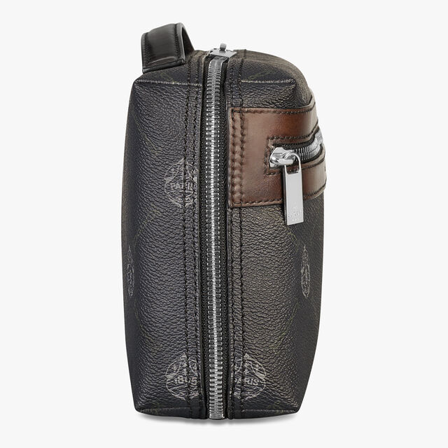 Virée Canvas And Leather Pouch, BLACK + TDM INTENSO, hi-res