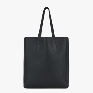 Silhouette Leather Tote, NERO, hi-res