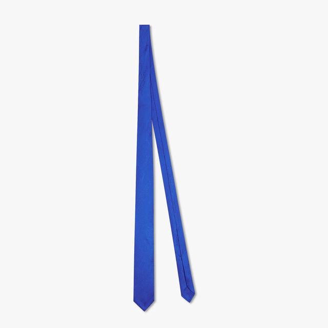 Cravate En Jacquard Scritto De Soie, ROYAL BLUE, hi-res