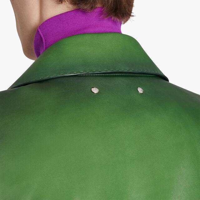 Patina Leather Biker, FIELD GREEN, hi-res