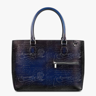 Toujours Scritto Leather Tote Bag