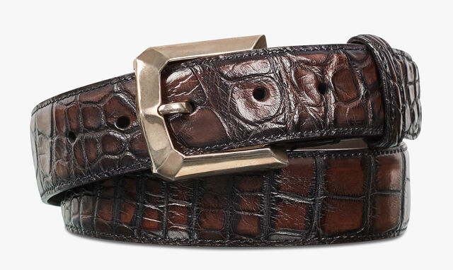 Alligator Leather Prisme Belt, TDM, hi-res