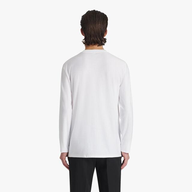 Jacquard Terry Cloth Logo Cotton T-Shirt, BLANC OPTIQUE, hi-res