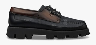 Twist Leather and Signature Canvas Boat Shoe
