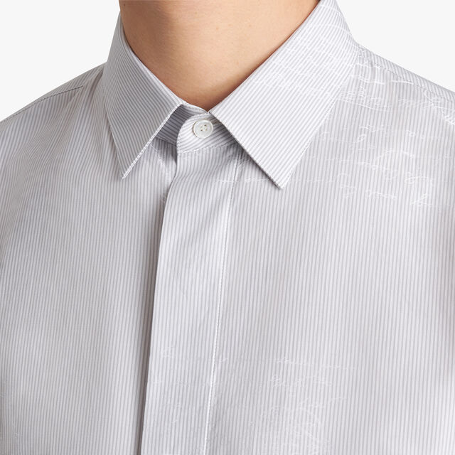 Stripes And Scritto Andy Shirt, LIGHT GREY, hi-res