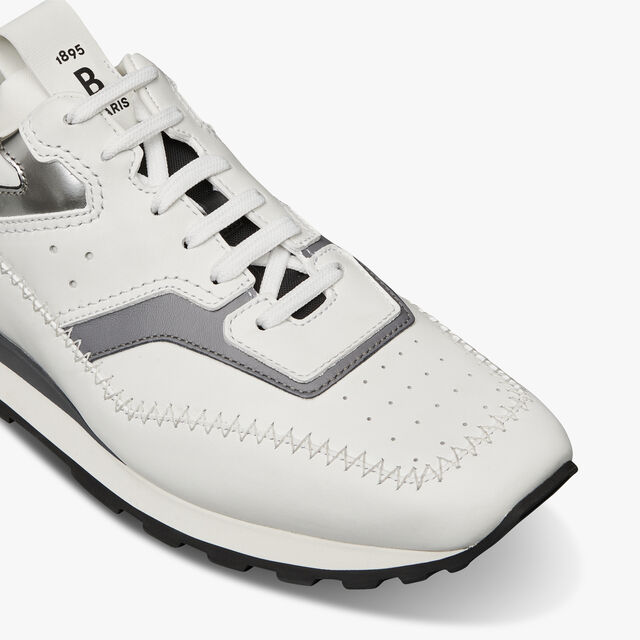 Fly Leather Sneaker, WHITE, hi-res