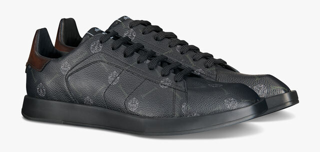 Stellar Canvas Signature and Leather Low-Cut Sneaker, BLACK + TDM INTENSO, hi-res