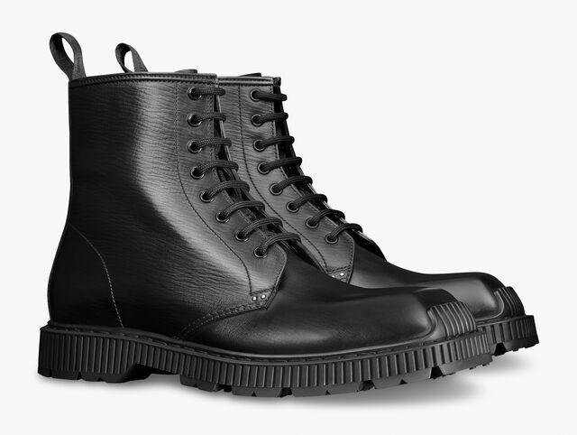 Camden皮革靴子, JET BLACK, hi-res