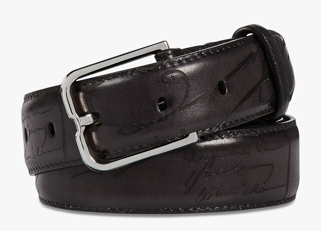 Ceinture Essence En Cuir Venezia - 32 mm, DEEP BLACK, hi-res