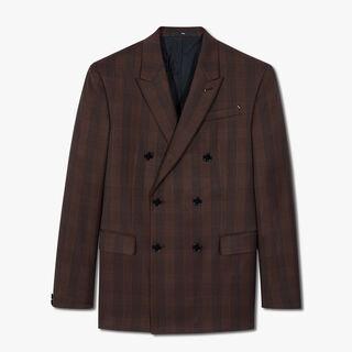 有衬里威尔士亲王格纹双排扣夹克