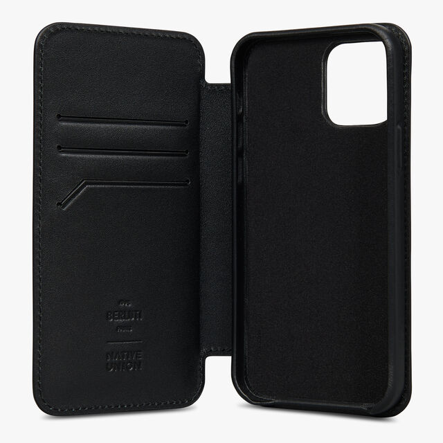 Signature Canvas and Venezia Iphone 12 Pro Folio , BLACK + TDM INTENSO, hi-res