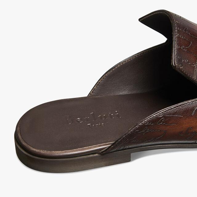 Cyrus Oman Calf Leather Slipper, TABACCO, hi-res