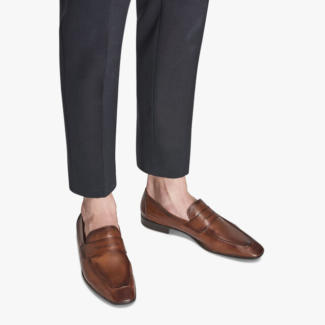 Lorenzo Kangaroo Leather Loafer, TABACCO, hi-res