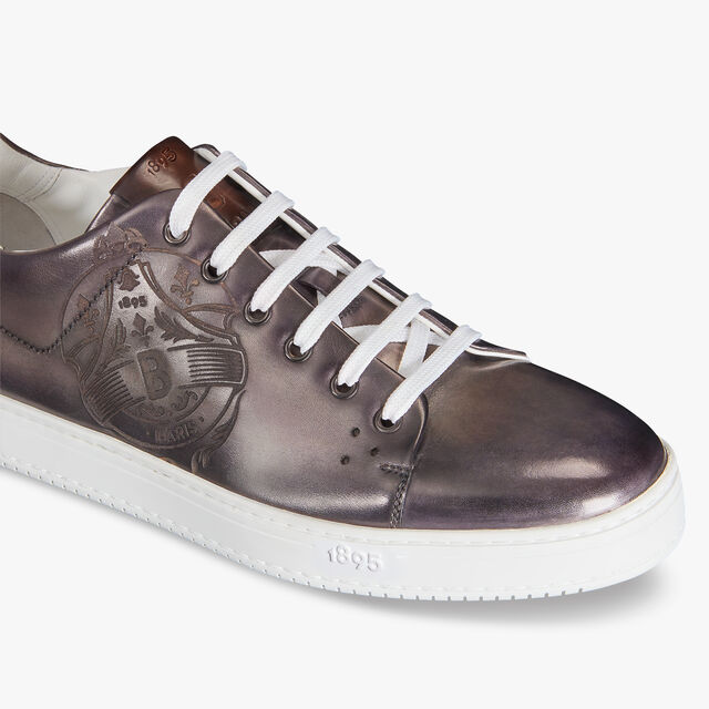 Playtime Stamp Leather Sneaker, ALUMINIO, hi-res